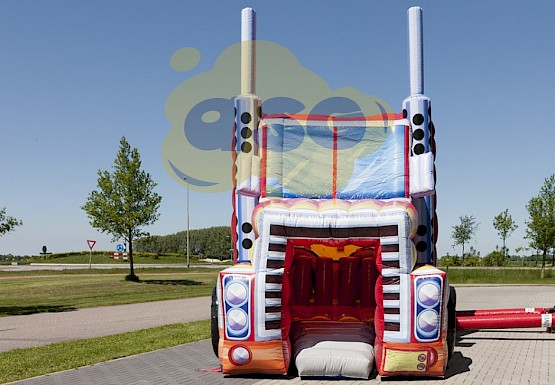 parcours gonflable obstacles super truck 14m asg34