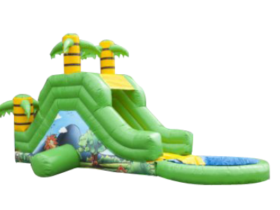 "Toboggan Gonflable ""AQUA JUNGLE"""