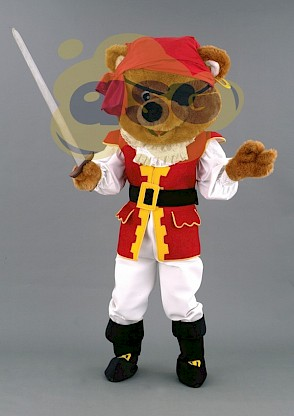 Costume d'ours pirate en peluche