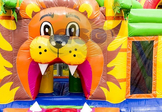 Multi Playground Lion gonflable asg34