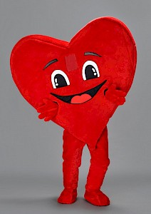 Mascotte coeur rouge