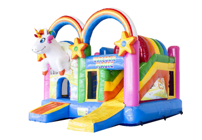 "MultiPlayground Gonflable + toit ""LICORNE"""