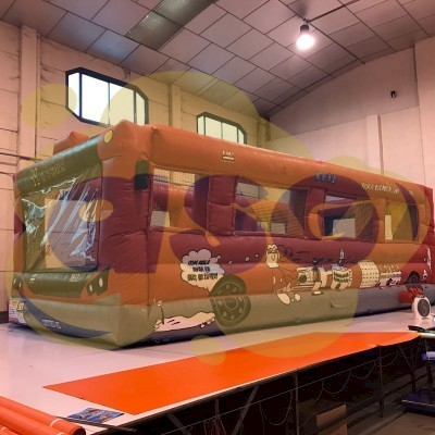 aire de jeux gonflable autobus geant Gonflables asg34 vente fabrication location - Animations gonflables ASG34