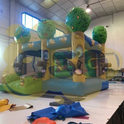 aire de jeux gonflable foret arbres Gonflables asg34 vente fabrication location - Animations gonflables ASG34