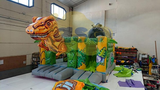 multiplay dinosaure gonflable asg34
